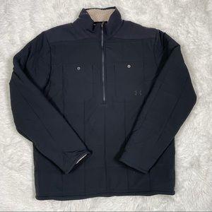 New Under Armour Men's Jacket Coldgear Quilted 1/2 Zip 1343261-001